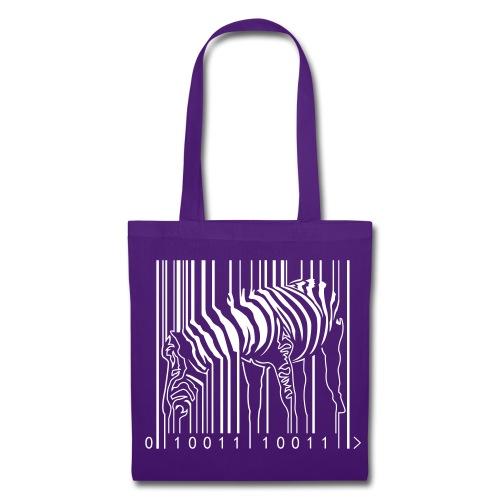 Tote Bag Purple Zebra Barcode - Tote Bag