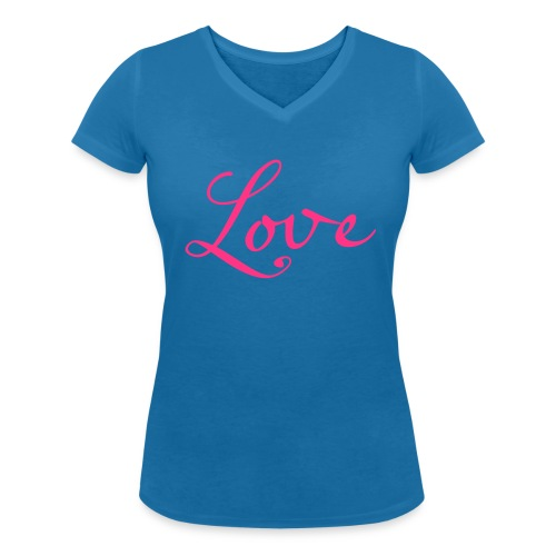 Love - Frauen Bio-T-Shirt mit V-Ausschnitt von Stanley & Stella
