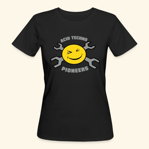 "Acid Techno Pioneers Collection  Organic Tshirt ""EarthPositive Silver - Women's Organic T-Shirt"