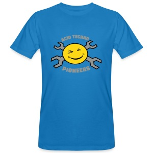 "Acid Techno Pioneers Collection Mens Organic Tshirt ""EarthPositive Silver - Men's Organic T-shirt"