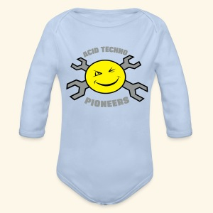Acid Techno Pioneers Collection Baby Long Sleeve One Piece - Organic Longsleeve Baby Bodysuit