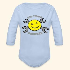Acid Techno Pioneers Collection Baby Long Sleeve One Piece - Organic Longsleeve Baby Bodysuit