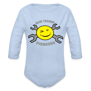 Acid Techno Pioneers Collection Baby Long Sleeve One Piece - Longlseeve Baby Bodysuit