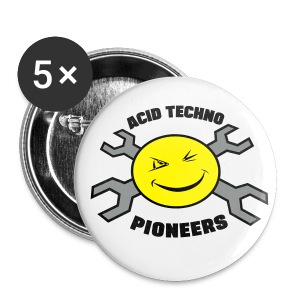 Acid Techno Pioneers  - Buttons small 25 mm