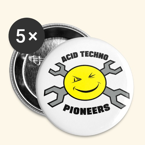 Acid Techno Pioneers  - Buttons small 1''/25 mm (5-pack)