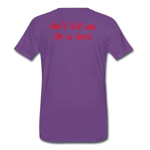 Basic Männer Shirt red don't kill me i'm in love - Männer Premium T-Shirt