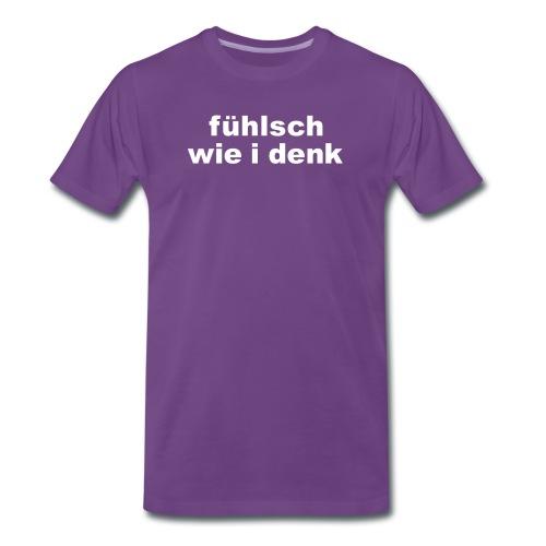 AA Basic-Shirt Männer fühlsch wie i denk - Männer Premium T-Shirt