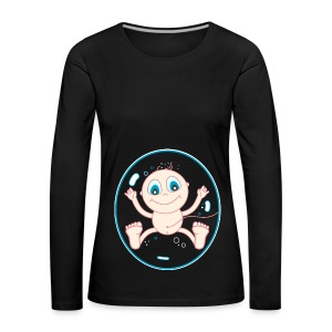 Baby in the womb Long Sleeve Shirts - Women's Premium Longsleeve Shirt