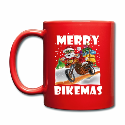 Merry Bikemas Mug - Full Colour Mug