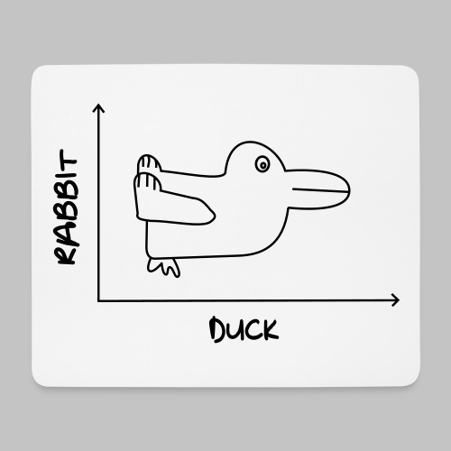 Tapis de souris (mouse pad) Duck'n Rabbit - Mouse Pad (horizontal)