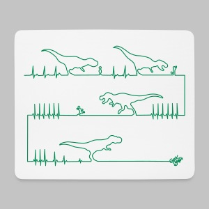 Tapis de souris (mouse pad) T-Rex attack - Mouse Pad (horizontal)