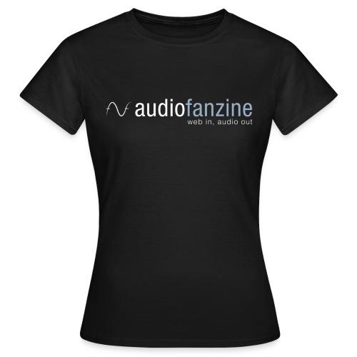 T-shirt Femme col rond AF logo noir - T-shirt Femme