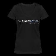 Tee shirts ~ Tee shirt col V Femme ~ T-shirt femme col en V logo AF noir
