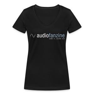 T-shirt femme col en V logo AF noir - T-shirt bio col V Stanley & Stella Femme