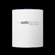 Bouteilles et Tasses ~ Tasse bicolore ~ Mug AF logo blanc bords bleu