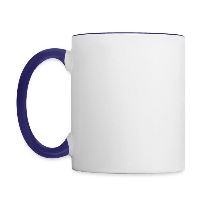 Mug AF logo blanc bords bleu