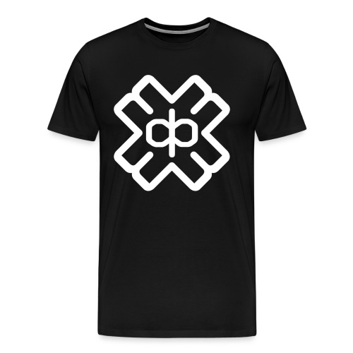 Black Tee White D3EP Logo Device - Men's Premium T-Shirt