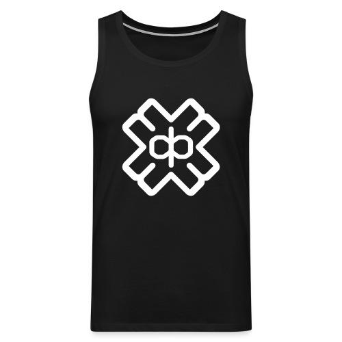 Black D3EP logo vest - Men's Premium Tank Top