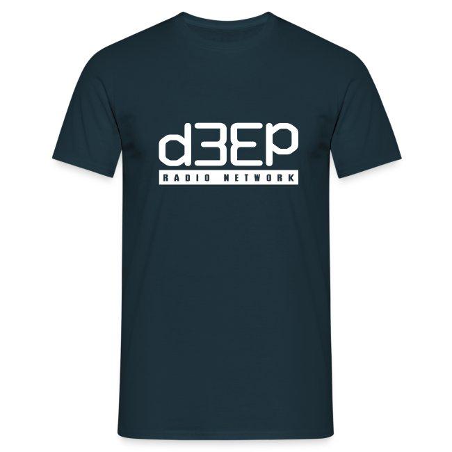 Blue Mens Tee White D3EP full text logo
