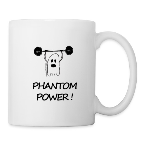 Mug Phantom Power avec logo AF - Mug blanc