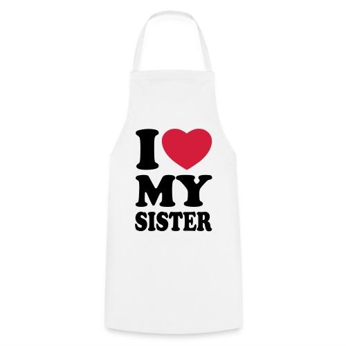 Tablier J'aime Ma soeur - Tablier de cuisine