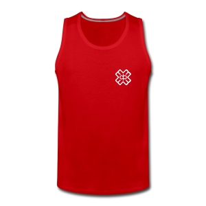 Red D3EP Logo Vest - Men's Premium Tank Top
