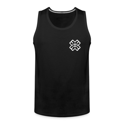 Black D3EP logo vest - Men's Premium Tank Top
