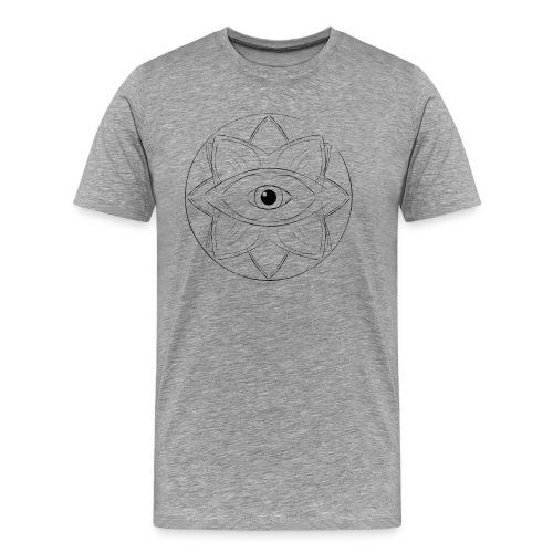 Grey Eye-Mandala T-Shirt - Männer Premium T-Shirt