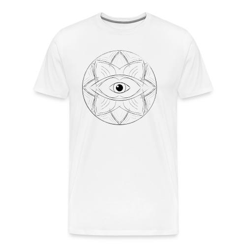 White Eye-Mandala T-Shirt - Männer Premium T-Shirt
