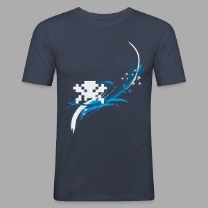 Pixel Splash Slim Fit Shirt - Digitaldruck - Männer Slim Fit T-Shirt