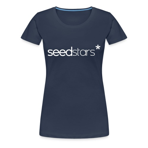 SEEDSTARS* NAVY TEE FEMALE - Women's Premium T-Shirt