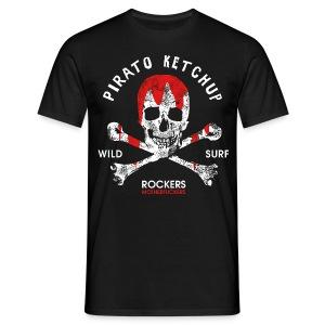Pirato Ketchup'ed Skull (men T shirt) - Men's T-Shirt