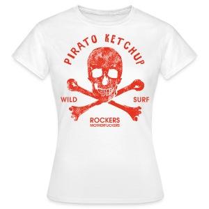 Pirato Ketchup Red skull (girly T shirt) - Women's T-Shirt