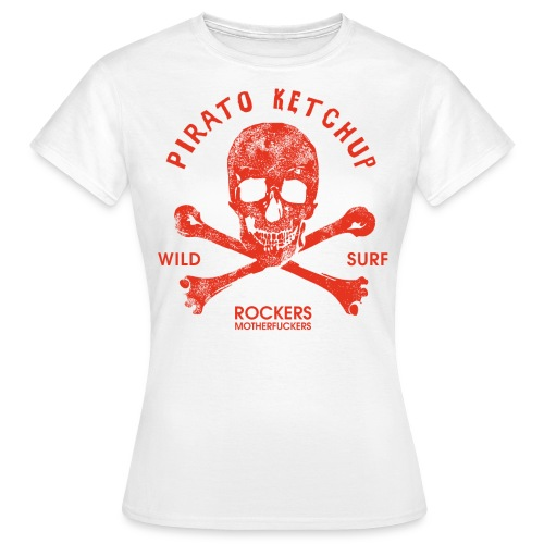 Pirato Ketchup Red skull (girly T shirt) - Women's T-Shirt