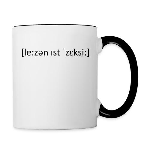 Edition I!I LAUTSCHRIFT - Tasse zweifarbig