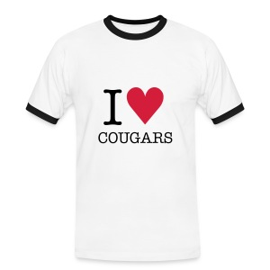 I LOVE COUGARS - Camiseta contraste hombre