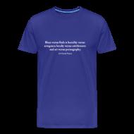 T-Shirts ~ Men's Premium T-Shirt ~ David France Quote: Standard shirt