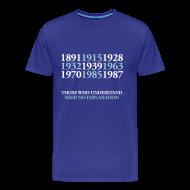 T-Shirts ~ Men's Premium T-Shirt ~ EFC Title Dates - Royal Blue standard shirt