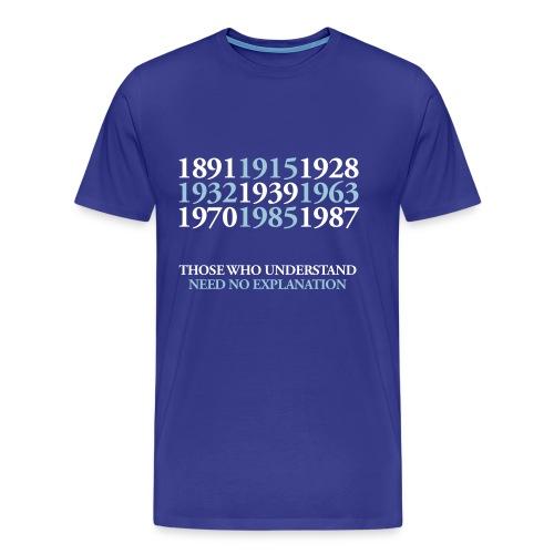 EFC Title Dates - Royal Blue standard shirt - Men's Premium T-Shirt