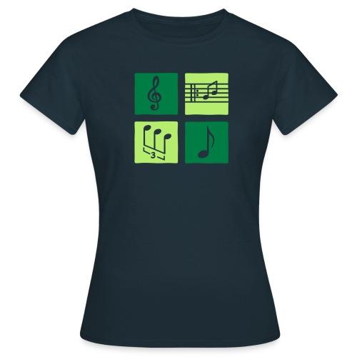 Noten und Schlüssel - Frauen T-Shirt