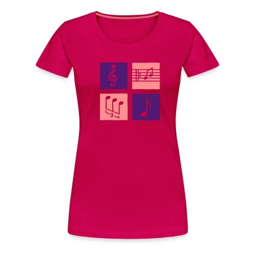 Noten und Schlüssel - Frauen Premium T-Shirt
