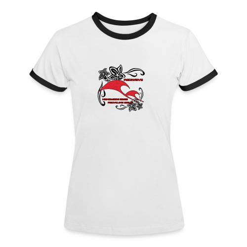 Rediwave Girl Ringer - Maglietta Contrast da donna