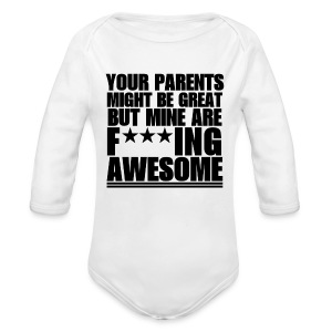 F***ING AWESOME BODY BEBE ML - Body bébé bio manches longues