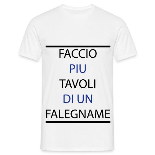 T-Shirt Falegname Bianco - Maglietta da uomo