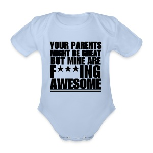 F***ING AWESOME BODY BEBE MC - Body bébé bio manches courtes