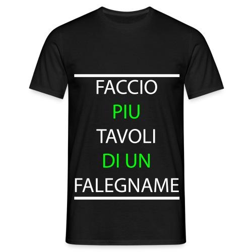T-Shirt Falegname Nera - Maglietta da uomo