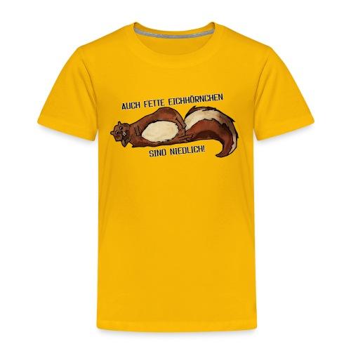 Fette Eichhörnchen Männer - Kinder Premium T-Shirt
