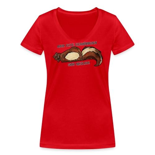 Fette Eichhörnchen Frauen - Frauen Bio-T-Shirt mit V-Ausschnitt von Stanley & Stella
