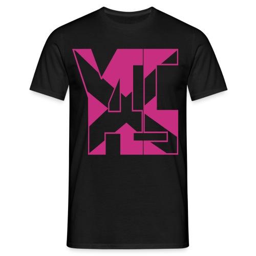 YES 45 Adult Mens T-shirt  Magenta logo - Men's T-Shirt