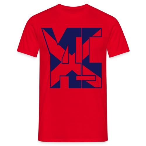 YES 45 Adult Mens T-shirt  Blue logo - Men's T-Shirt